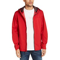 Hawke & Co. Men's All-Season Lightweight Stretch Hooded Rain Jacket (various colors/sizes)