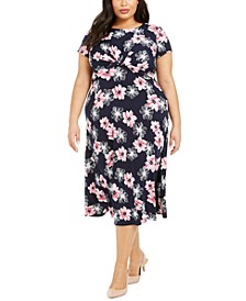 Plus Size Twisted Midi Dress