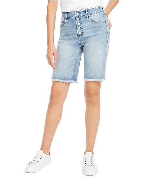 OAT Button-Front Denim Bermuda Shorts