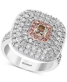 EFFY® Diamond Multi-Halo Statement Ring (2-1/4 ct. t.w.) in 18k White & Rose Gold