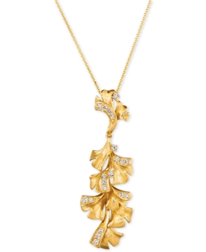 """Nude Diamond Floral 18"""" Pendant Necklace (1/3 ct. t.w.) in 14k Gold"""