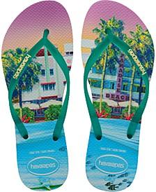 Slim Paisage Flip-Flop Sandals