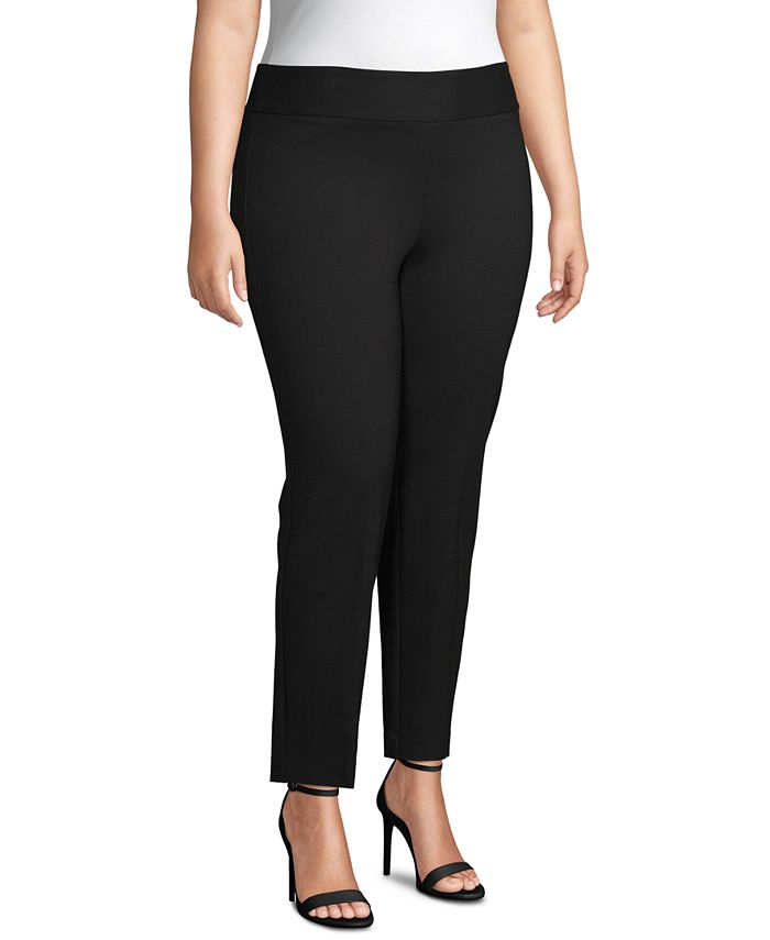 Anne Klein - Plus Size Pull-On High-Rise Pants