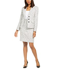 Tweed Blazer And Pencil Skirt