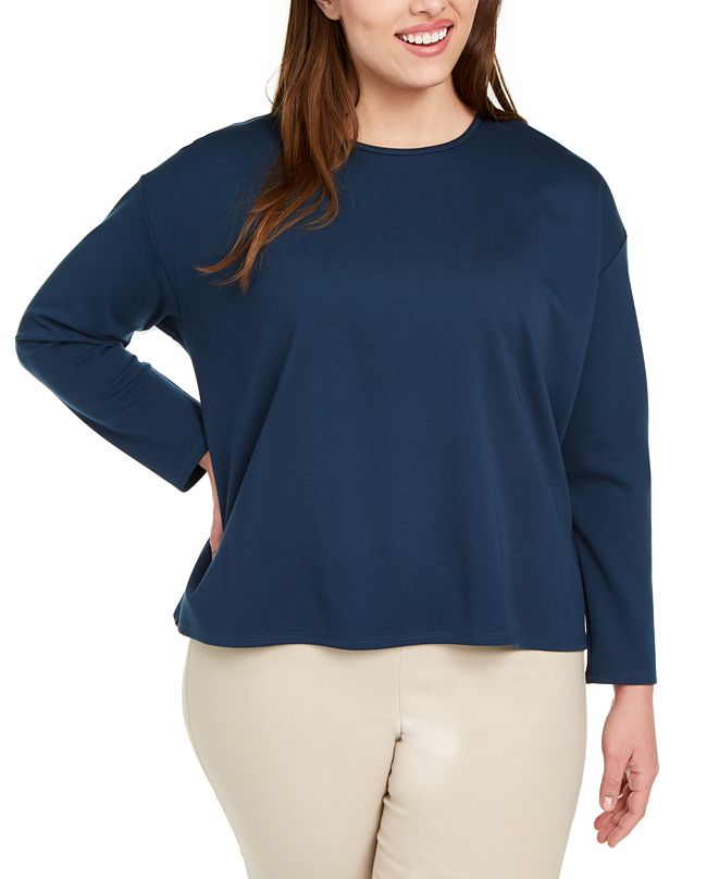 Eileen Fisher Plus Size Crewneck Top