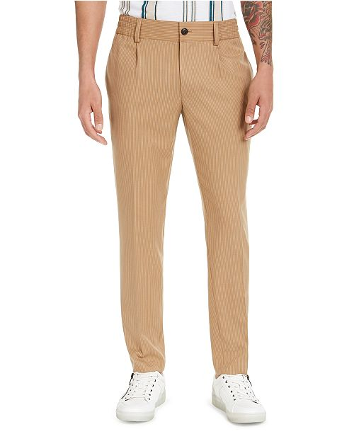 INC International Concepts INC Men's Asher Pleated Slim-Fit Pinstripe Pants, Created for Macy's