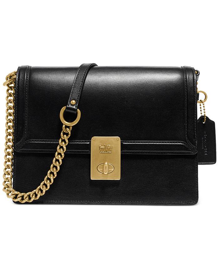 COACH - Refined Calf Leather Hutton Shoulder Bag
