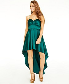 Juniors' Sweetheart High-Low Gown