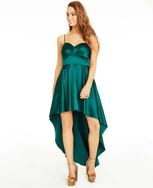 City Studios Juniors' Sweetheart High-Low Gown