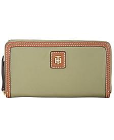 Julia Solid Nylon Zip Wallet
