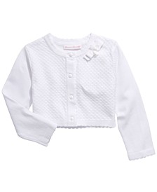 Toddler Girls Cotton Pointelle Cardigan