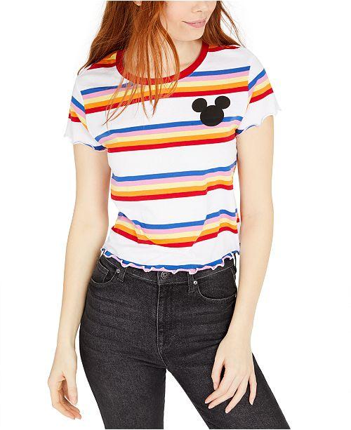 Disney Juniors' Striped Mickey Mouse T-Shirt