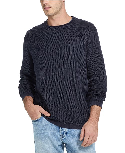 Weatherproof Vintage Men's Stonewashed Textured Sweater