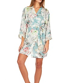 Womens Kaylee Printed Charmeuse Cover-Up