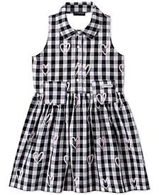 Toddler Girls Cotton Plaid Heart Dress