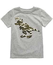 Toddler Boys Camo Dino Appliqué T-Shirt, Created for Macy's