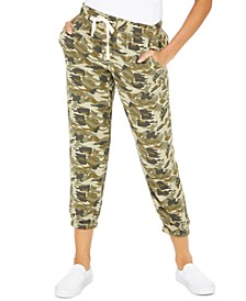 Juniors' Camoflauge-Print Pull-On Pants