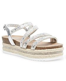 Ginnyy Rhinestone Flatform Sandals