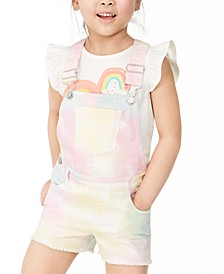 Toddler Girls Rainbow Tie-Dye Shortalls, Created for Macy's