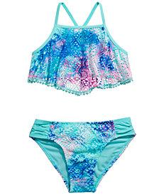 Breaking Waves Big Girls 2-Pc. Crochet All Day Bikini
