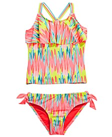 Big Girls 2-Pc. Washed Out Flounce Tankini
