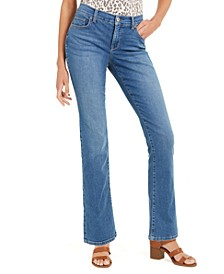 Petite Tummy-Control Mid-Rise Bootcut Jeans, Created for Macy's
