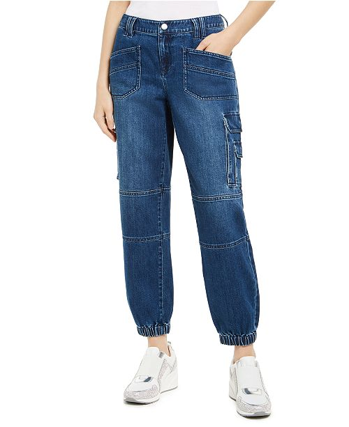 INC International Concepts INC Cargo Ankle Jogger Jeans, Created for Macy's