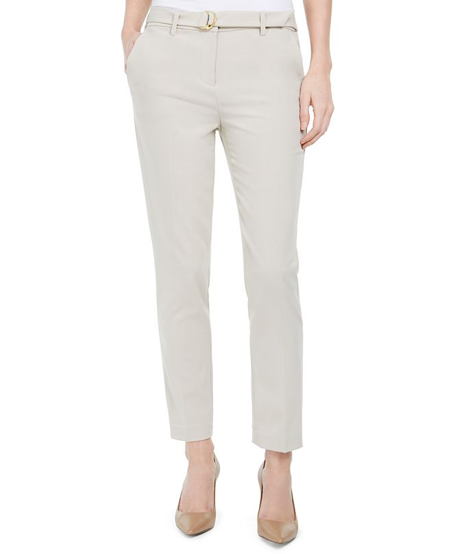 Michael Kors D-Ring Belted Pull-On Pants