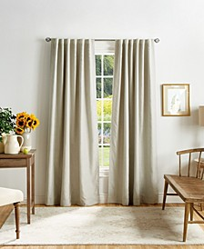 "Martha Stewart Bedford Woven Plaid 50"" x 84"" Blackout Curtain Set"
