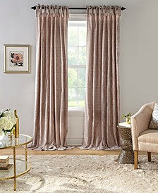 "Korena 52"" x 84"" Tie-Top Crushed Velvet Curtain Panel"