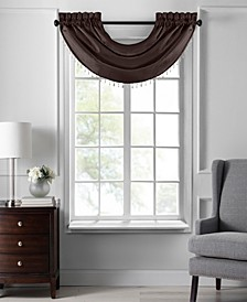 """Colette Faux Silk 42"""" x 22"""" Beaded Waterfall Valance"""
