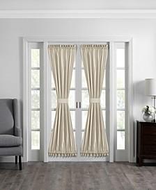 "Colette Faux Silk 54"" x 72"" French Door Window Panel"