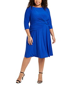 Plus Size Side-Twist Jersey Dress