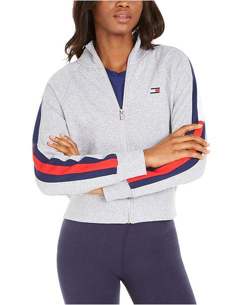 Tommy Hilfiger Striped-Sleeve Jacket