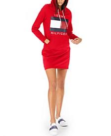 Logo Hoodie Sweatshirt Dress