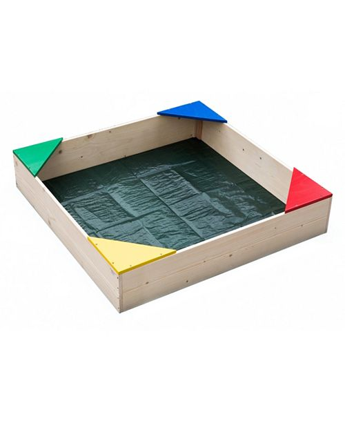 Playberg Wooden Sandbox with Floor Cover