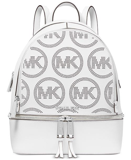 Michael Kors Rhea Zip Small Leather Backpack