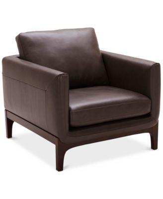 "Yazlan 35"" Leather Chair"