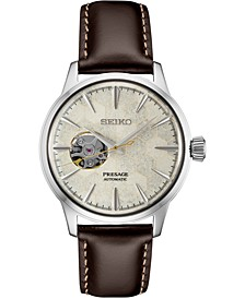 Men's Presage Automatic Brown Leather Strap Watch 40.5mm - A Limited Edition