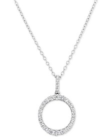 "Lab-Created Diamond Ring 18"" Pendant Necklace (1/2 ct. t.w.) in Sterling Silver"