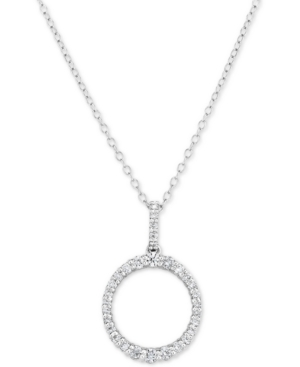 """Lab-Created Diamond Ring 18"""" Pendant Necklace (1/2 ct. t.w.) in Sterling Silver"""
