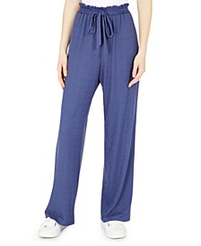 Juniors' Paper-Bag Waist Soft Pants