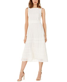 Embroidered Eyelet-Trim Dress
