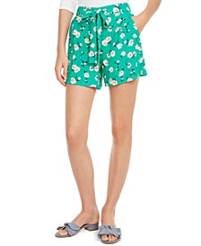 Printed Tie-Belt Shorts, Created For Macy's