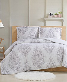 Paisley Blossom Full/Queen 3-Piece Comforter Set