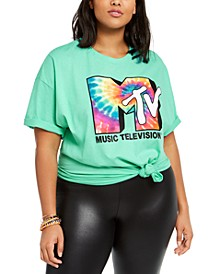 Hybrid Trendy Plus Size Cotton MTV Graphic T-Shirt