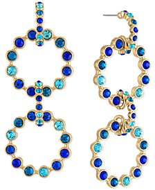 Gold-Tone Pavé Multi-Circle Statement Earrings