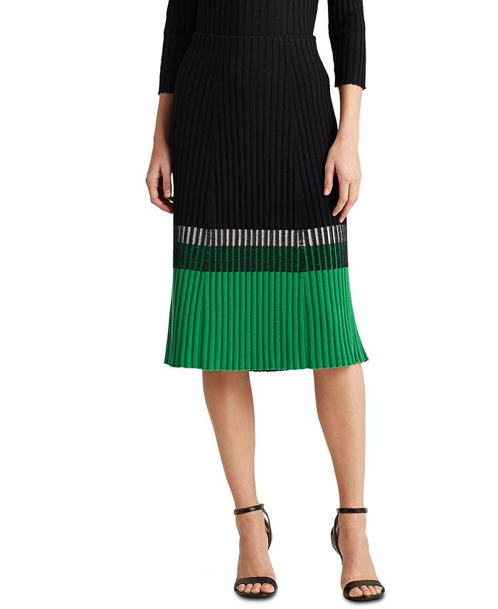 Lauren Ralph Lauren - Three-Tone Colorblocked Skirt