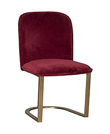 Accent Chair with Velvet Upholstery