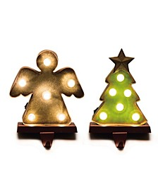 Marquee Led Angel Tree Stocking Holder Set of 2